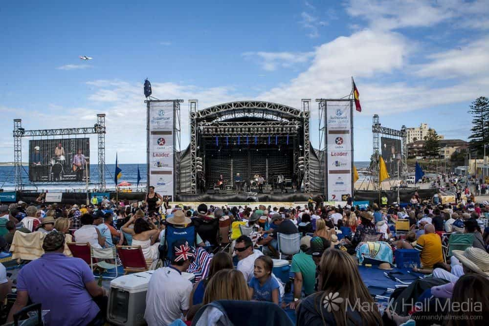 Australia Day on Cronulla beach, 2014 with Mental As Anything.