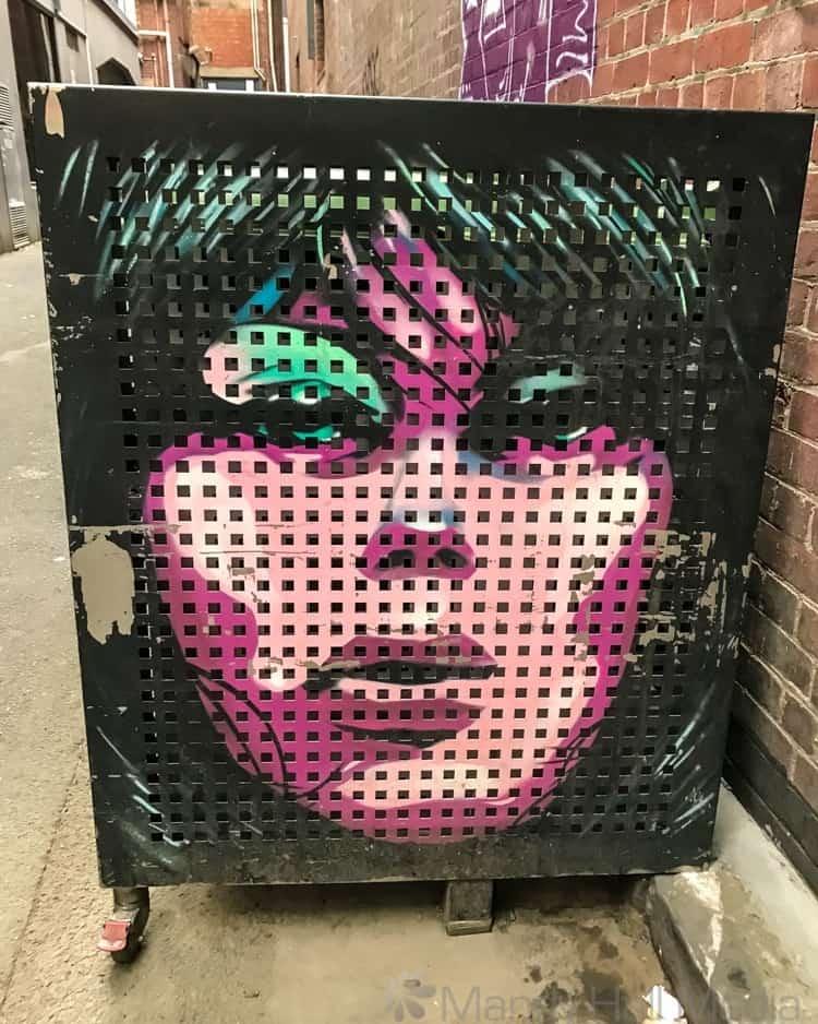 Chrisse Amphlett mural in Amphlett Lane