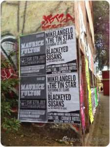 End of an era. Poster for the Tin Star's final gig.