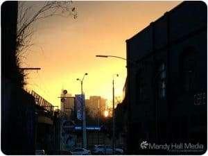 Sunday evening sunset in Richmond