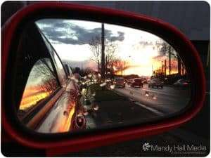 Sunset from a traffic jam