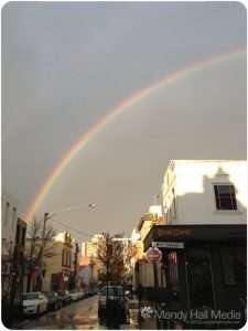 Gorgeous rainbow after a storm in Greville Street, Prahran.