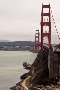 On and around the Golden Gate Bridge in San Francisco
