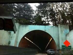 Cool tunnel on the way to the Golden Gate Bridge