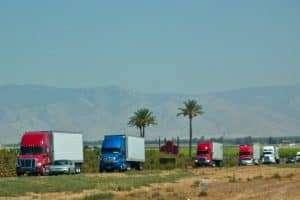 Multi coloured trucks