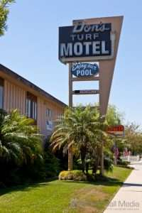Don's Turf Motel in SoCal. Fantastic place - cheap, very clean and lovely owners.