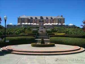 Domaine Carneros in Napa Valley. Excellent champagne.