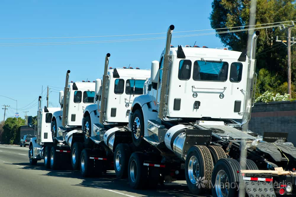 A truck with its babies
