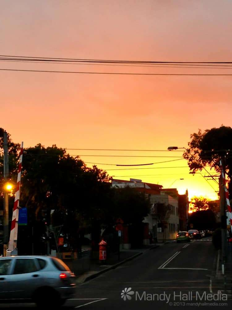 Spectacular sunset in Greville Street