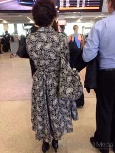 I was very disappointed to see that she didn't have a matching umbrella to go with the dress and handbag combination.