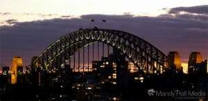 Sydney Harbour in the evening