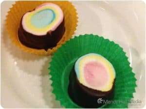 Marshmallow and chocolate.
