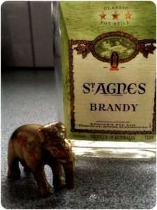Elephant isn't an alcoholic. She doesn't know why the brandy bottle is empty.