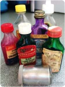 Vintage food colouring from my grandmother's place