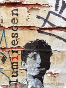 Autoluminescent. Rowland S Howard paste up in a side street.