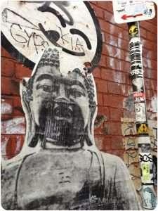 Buddha paste up