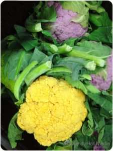 Colourful cauliflowers. I've never seen these before, I wonder if they taste as good as they look?