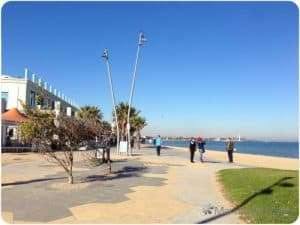 Beautiful day at St Kilda Beach