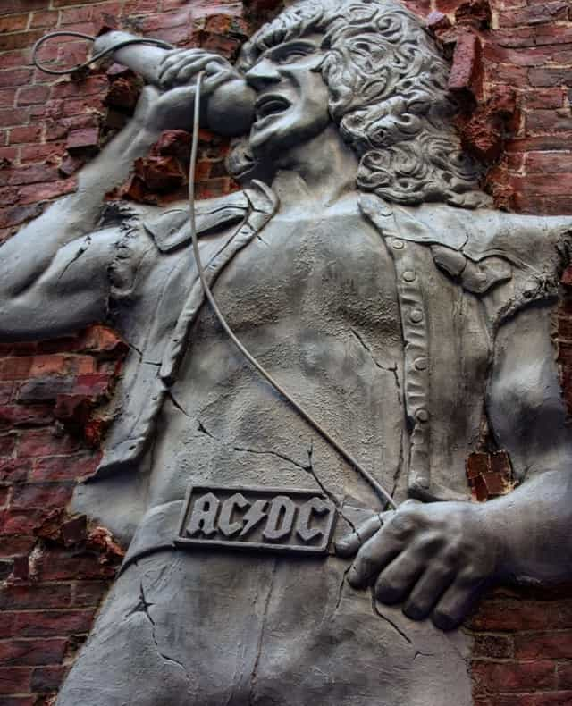 Bon Scott in AC/DC Lane