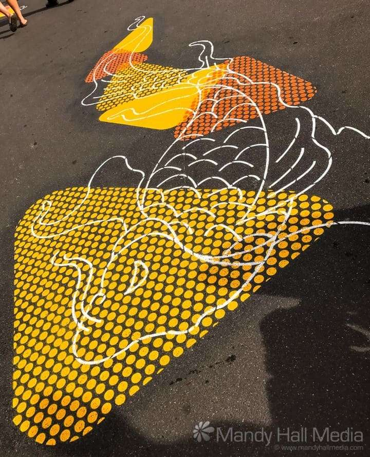 Fish on the footpath