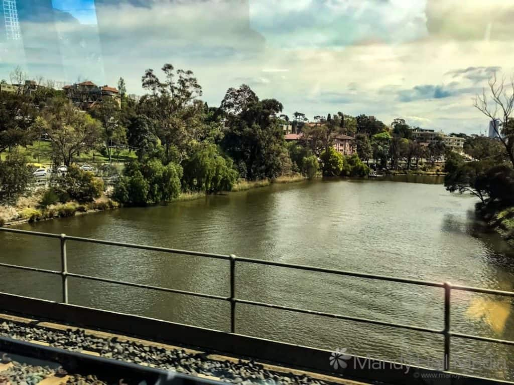 Yarra River from the train