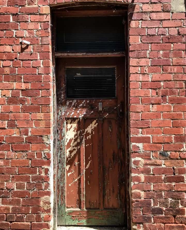 Old brick doorway