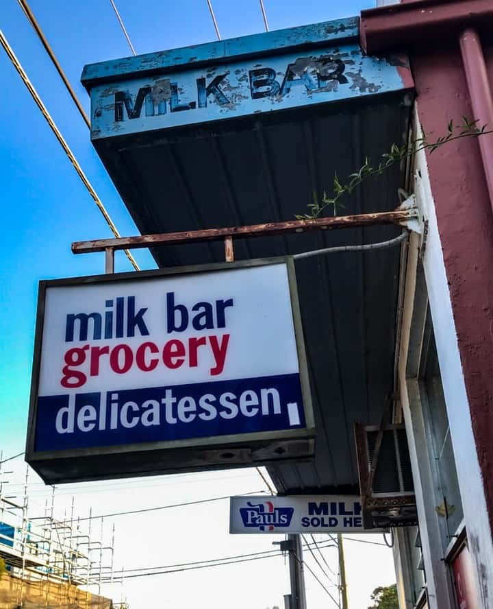 Old milk bar
