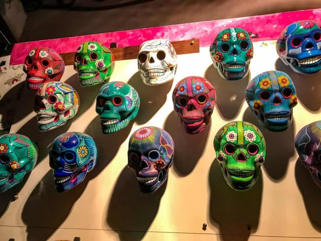 Sugar skulls on the wall