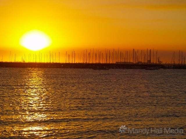 Sunset in St Kilda