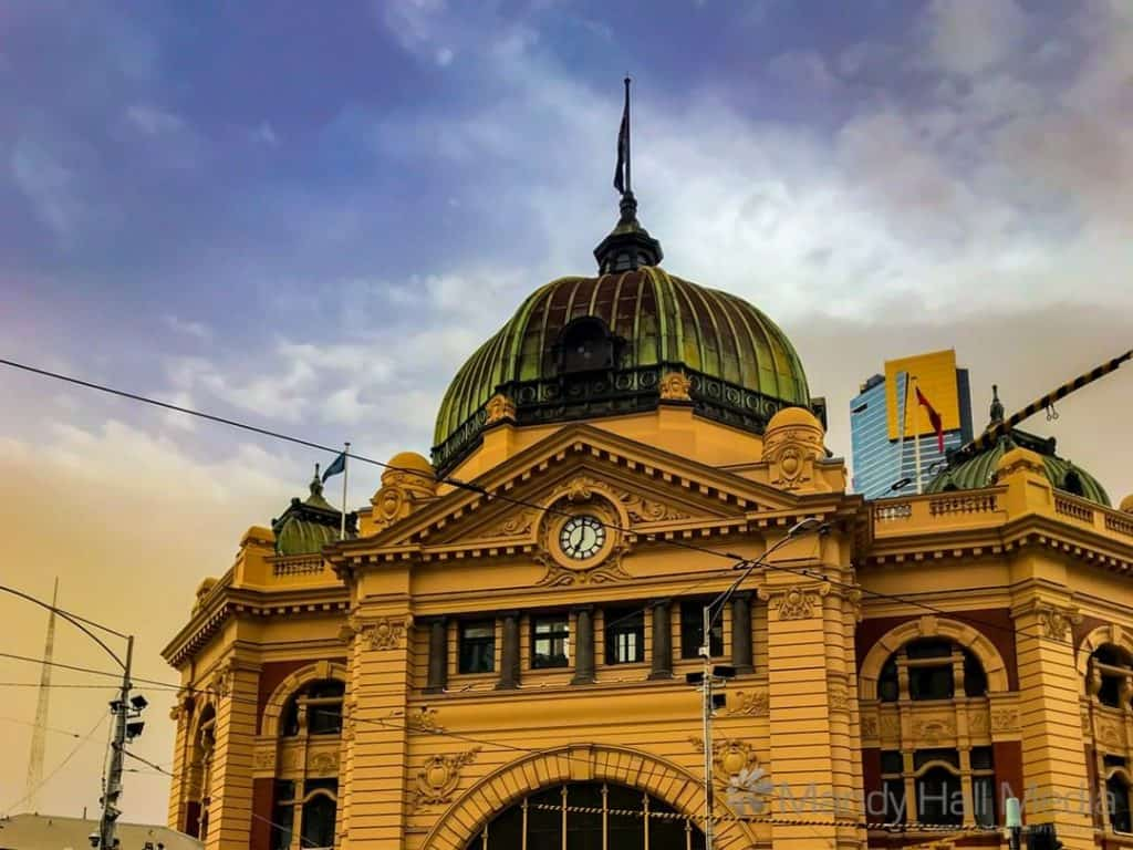 Flinders Street Station in early evening