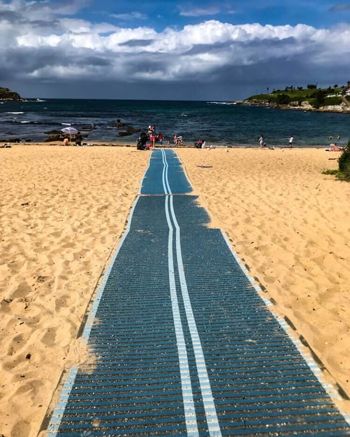 Path to the beach. Clever idea.