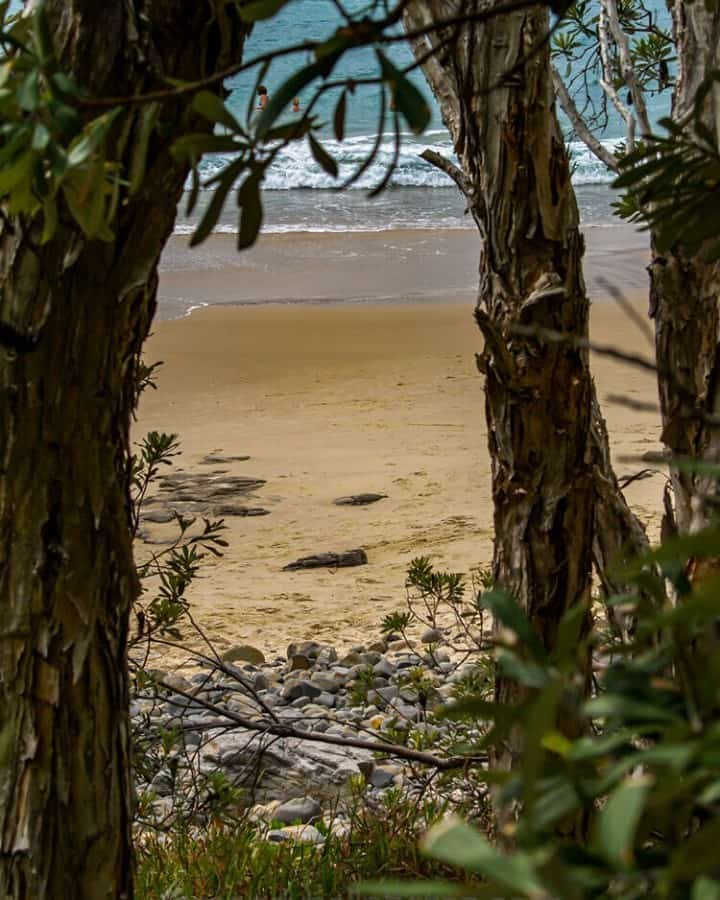 Looking through to the beach at Noosa