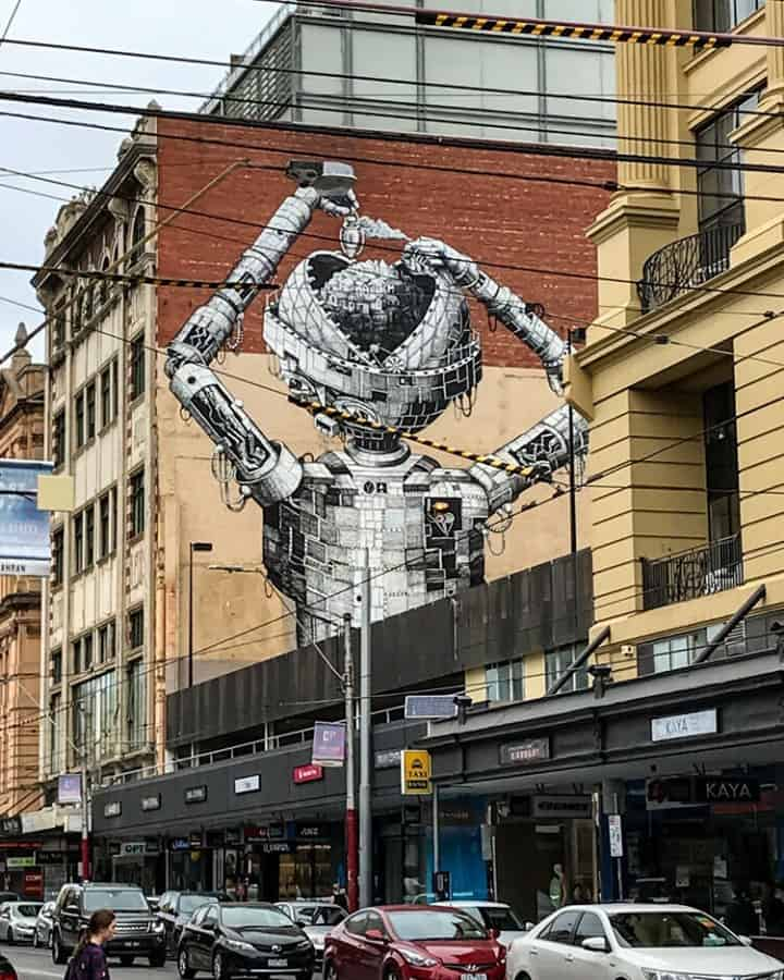 Robot boy in Chapel St