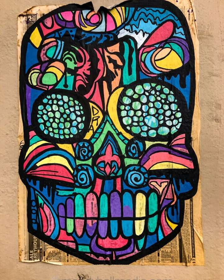 Sugar skull on the wall