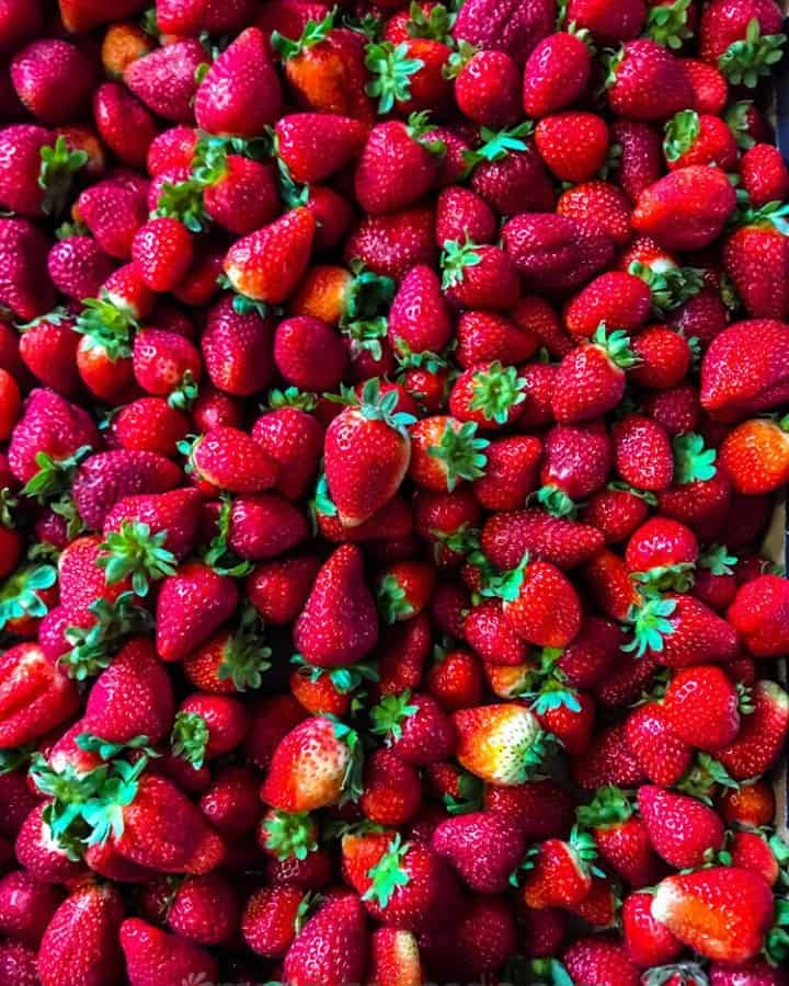 Strawberries. You can almost smell them.