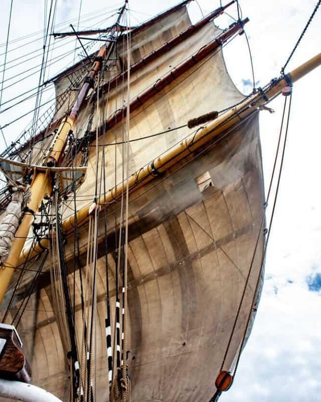 Sails on the James Craig