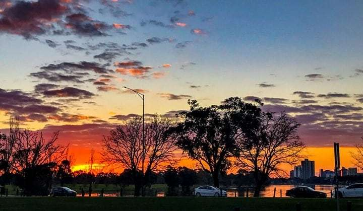 Sunset over Albert Park Lake