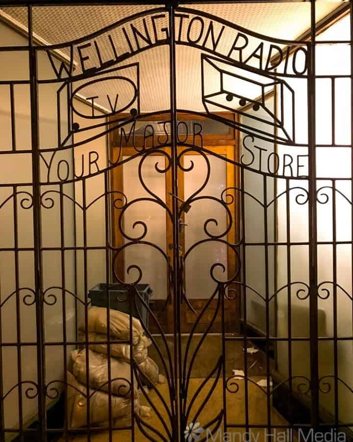 Great iron gate on a shop