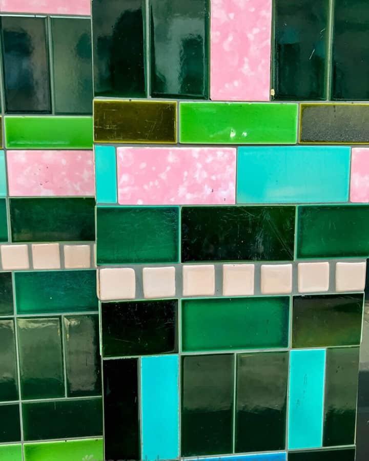 Vintage tiles. Such great colours.