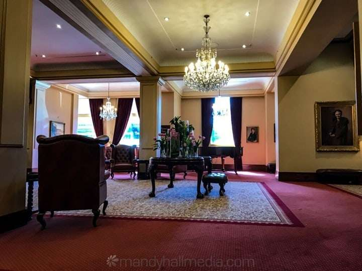 The foyer of the Windsor Hotel