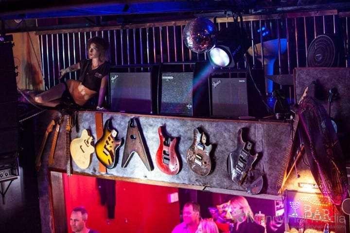 Guitars at the venue